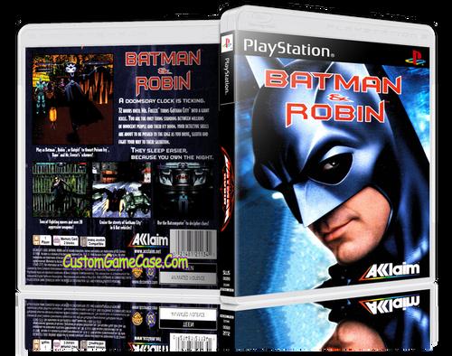 Batman & Robin - Sony PlayStation 1 PSX PS1 - Empty Custom Case