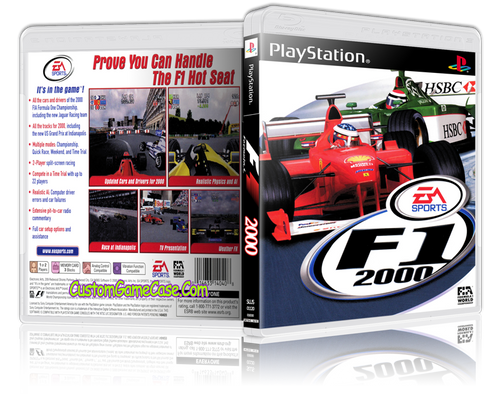 Formula 1 F1 2000 - Sony PlayStation 1 PSX PS1 - Empty Custom Case
