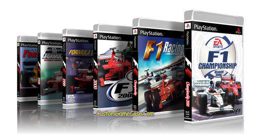 F1 Formula 1 Racing Collection Sony PlayStation 1 PSX PS1 - Empty Custom Cases
