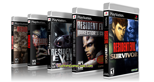 Resident Evil Collection 1 2 3 Nemesis Survivor Directors Cut Sony PlayStation 1 PSX PS1 - Empty Custom Cases