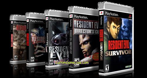 Resident Evil Collection 1 2 3 Nemesis Survivor Directors Cut Sony PlayStation 1 PSX PS1 - Empty Custom Cases