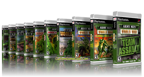 Army Men PS1 Collection Cases