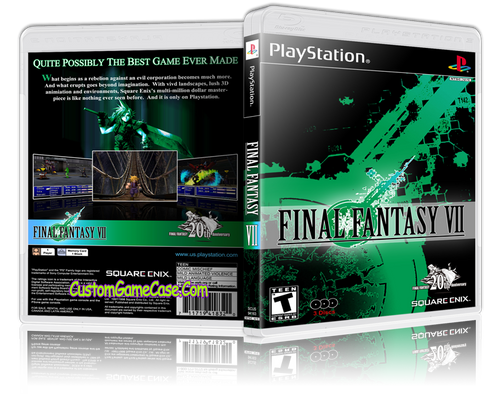 Final Fantasy VII Sony PlayStation 1 PSX PS1 - Empty Custom Case