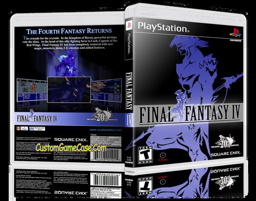 Final Fantasy IV - Sony PlayStation 1 PSX PS1 - Empty Custom Case