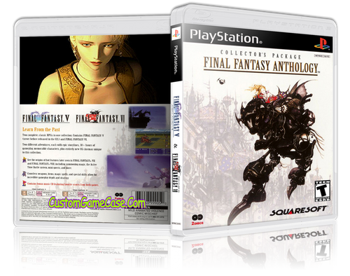Final Fantasy Anthology - Sony PlayStation 1 PSX PS1 - Empty Custom Case