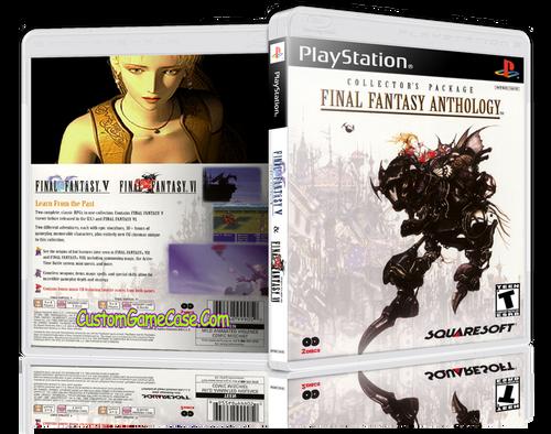 Final Fantasy Anthology - Sony PlayStation 1 PSX PS1 - Empty Custom Case