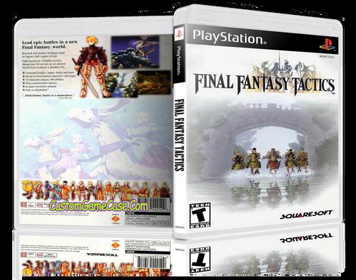 Final Fantasy Tatics - Sony PlayStation 1 PSX PS1 - Empty Custom Case