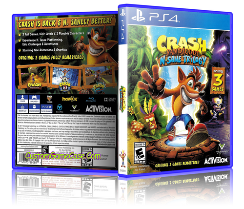 Crash Bandicoot N-Sane Trilogy Custom Replacement Case