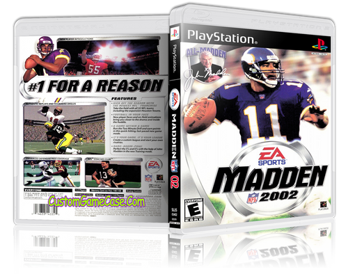 Madden 02 - Sony PlayStation 1 PSX PS1 - Empty Custom Case