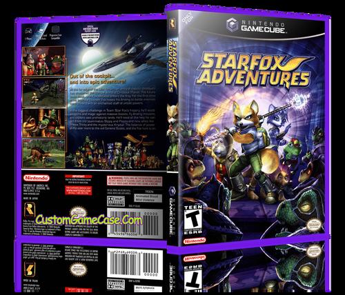 StarFox Adventures front Case