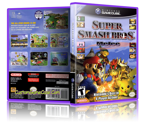 Super Smash Bros Melee Front Cover Case