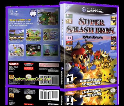Super Smash Bros Melee Front Cover Case