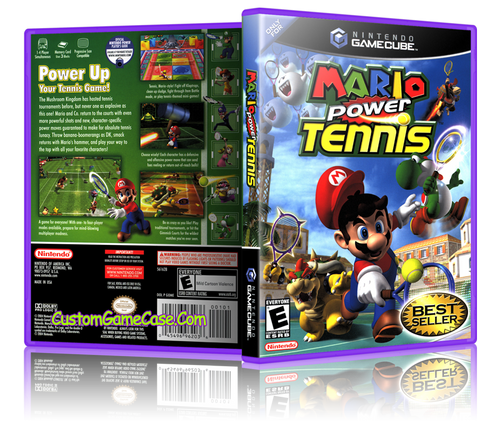 Mario Power Tennis Front Cover Artwork