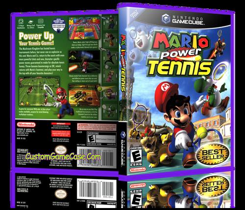 Mario Power Tennis Front Cover Artwork