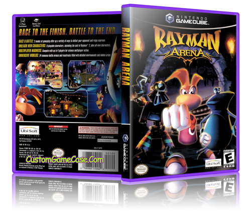 Rayman Arena Front Cover GameCube Box Case
