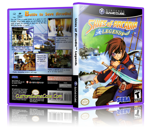 Skies of Arcadia Legends Front Cover GameCube Box Art