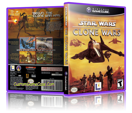 Star Wars The Clone Wars Front Cover GameCube Box Art Case