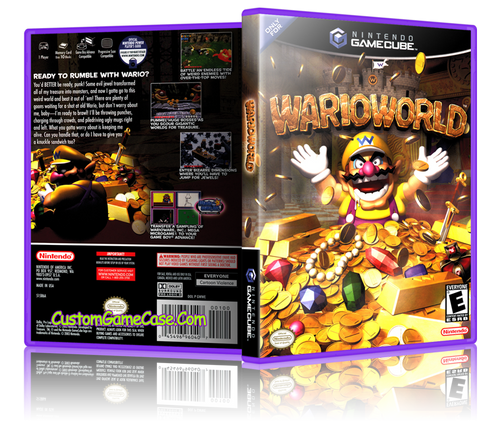 Warioworld GameCube Cover Box Artwork Case