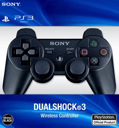Sony PlayStation 3 Dualshock 3 Game Pad PS3 Wireless Bluetooth Controller (Black)