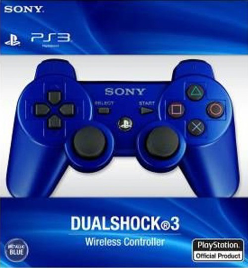 Sony PlayStation 3 Dualshock 3 Game Pad PS3 Wireless Bluetooth Controller (Blue)