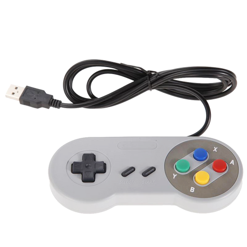 Gray Retrolink  SNES USB Wired Classic Joystick Gamepad Controller Recalbox RetroPi RetroArc Windows 10
