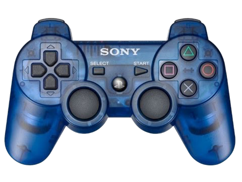 Sony PlayStation 3 Dualshock 3 Game Pad PS3 Wireless Bluetooth Controller (Clear Blue)