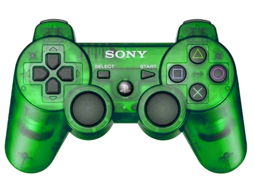 Sony PlayStation 3 Dualshock 3 Game Pad PS3 Wireless Bluetooth Controller (Clear Green)