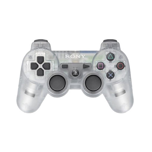Sony PlayStation 3 Dualshock 3 Game Pad PS3 Wireless Bluetooth Controller (Clear Frost)