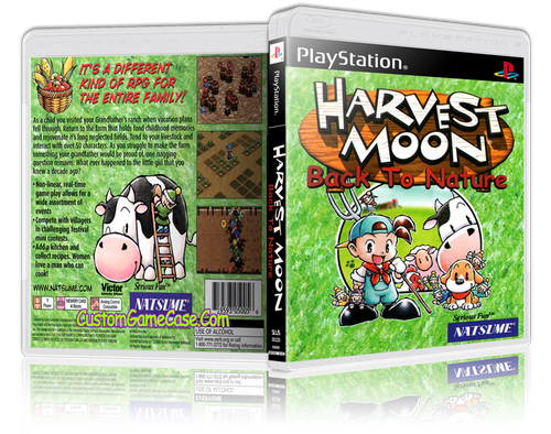 Harvest Moon Back To Nature - Sony PlayStation 1 PSX PS1 - Empty Custom Case