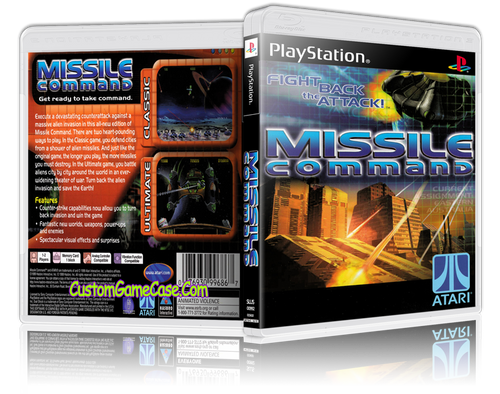 Missile Command - Sony PlayStation 1 PSX PS1 - Empty Custom Case