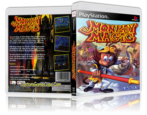 Monkey Magic - Sony PlayStation 1 PSX PS1 - Empty Custom Case
