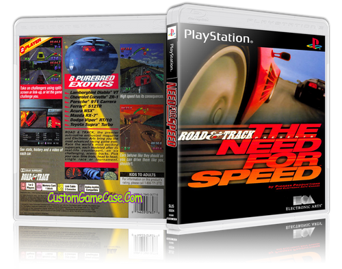 The Need For Speed - Sony PlayStation 1 PSX PS1 - Empty Custom Case