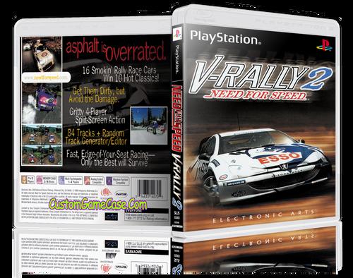Need For Speed V-Rally 2 - Sony PlayStation 1 PSX PS1 - Empty Custom Case