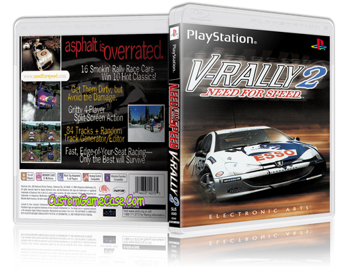 Need For Speed V-Rally 2 - Sony PlayStation 1 PSX PS1 - Empty Custom Case
