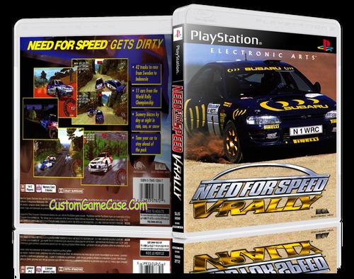 Need For Speed V-Rally - Sony PlayStation 1 PSX PS1 - Empty Custom Case