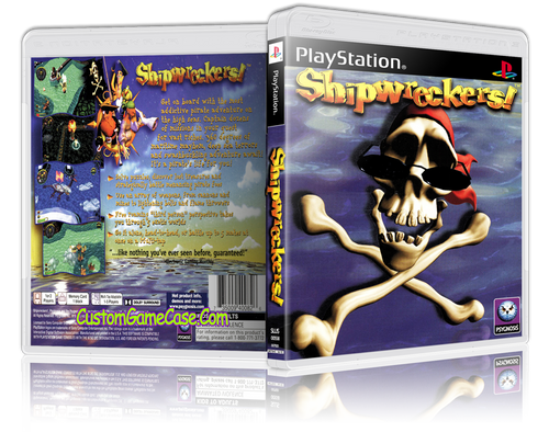 Shipwreckers! - Sony PlayStation 1 PSX PS1 - Empty Custom Case