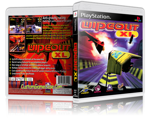 Wipeout XL - Sony PlayStation 1 PSX PS1 - Empty Custom Case