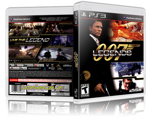 007 Legends - Sony PlayStation 3 PS3 - Empty Custom Replacement Case