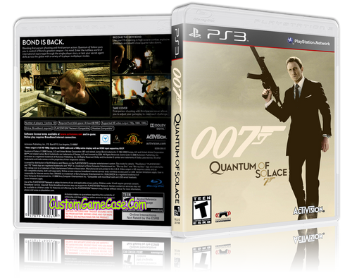 007 Quantum of Solace (New) - Sony PlayStation 3 PS3  - Empty Custom Replacement Case