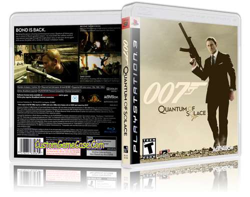 007 Quantum of Solace - Sony PlayStation 3 PS3 - Empty Custom Replacement Case