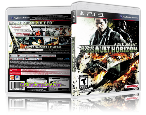 Ace Combat Assault Horizon - Sony PlayStation 3 PS3 - Empty Custom Replacement Case
