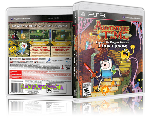 Adventure Time - Sony PlayStation 3 PS3 - Empty Custom Replacement Case