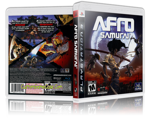 Afro Samurai - Sony PlayStation 3 PS3 - Empty Custom Replacement Case