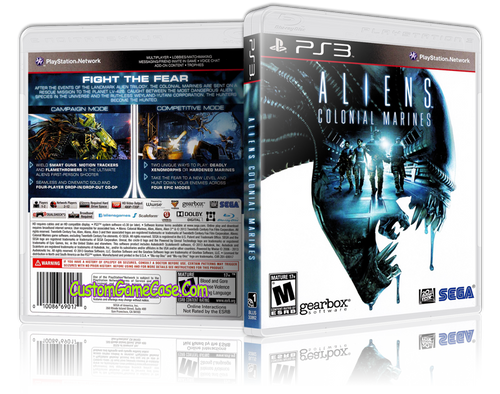 Aliens Colonial Marines - Sony PlayStation 3 PS3 - Empty Custom Replacement Case