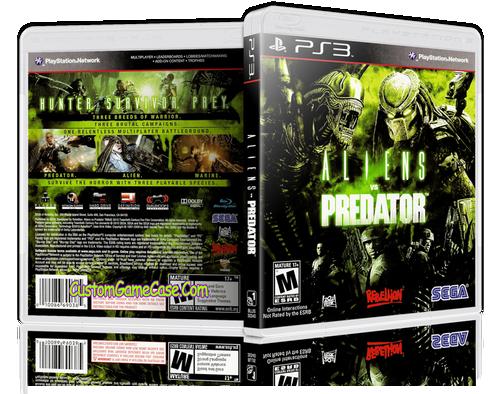 Aliens vs Predator - Sony PlayStation 3 PS3 - Empty Custom Replacement Case