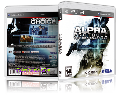 Alpha Protocol (New) - Sony PlayStation 3 PS3 - Empty Custom Replacement Case
