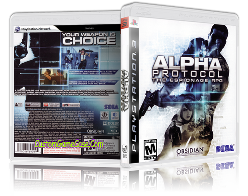 Alpha Protocol - Sony PlayStation 3 PS3 - Empty Custom Replacement Case