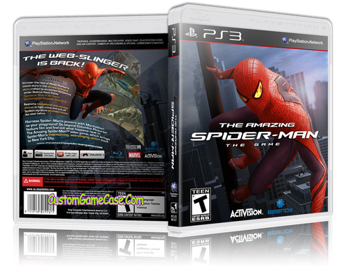 Amazing Spider-man (V3) - Sony PlayStation 3 PS3 - Empty Custom Replacement Case