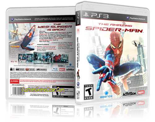 Amazing Spider-man (V2) - Sony PlayStation 3 PS3 - Empty Custom Replacement Case