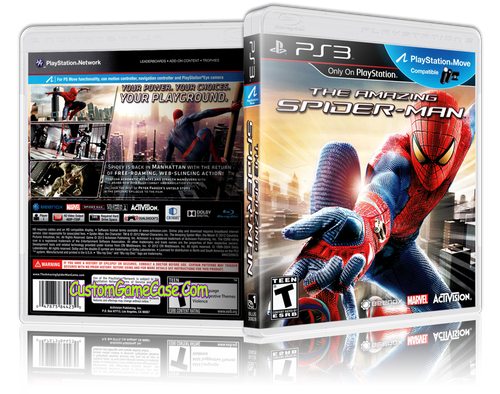 Amazing Spider-man - Sony PlayStation 3 PS3 - Empty Custom Replacement Case